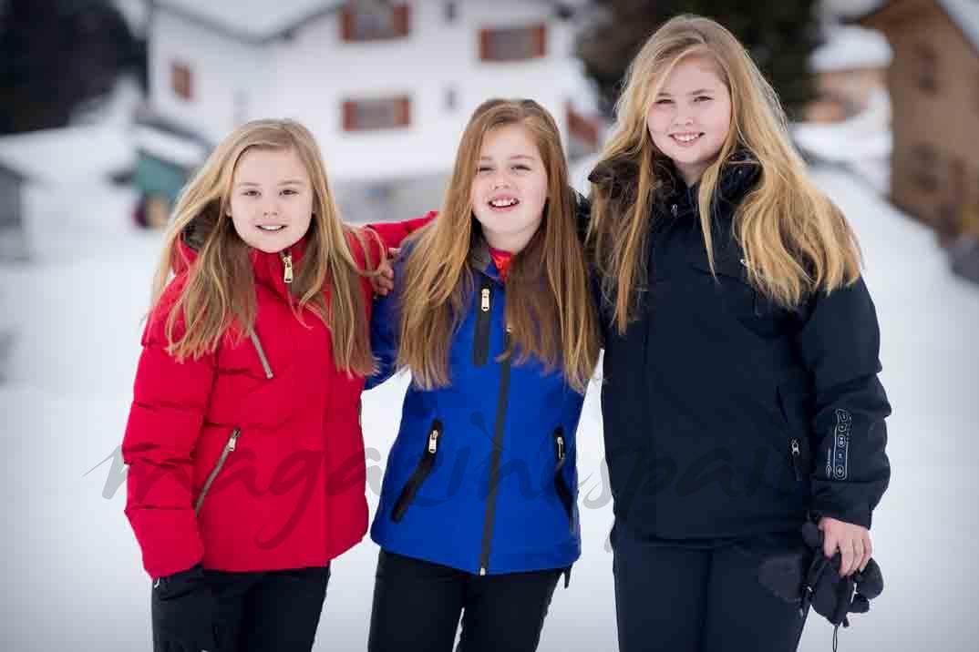 familia real holandesa vaciones en austria en la nieve