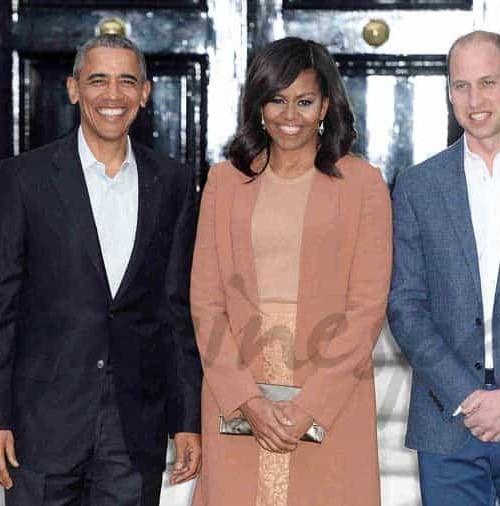 Barack y Michelle Obama con la Familia Real Inglesa