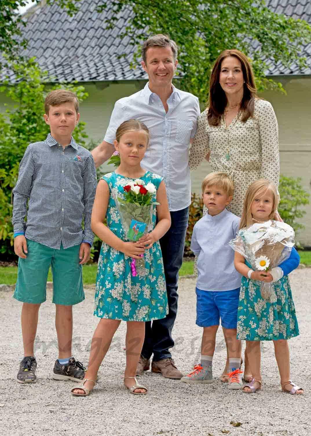 Los Príncipes de Dinamarca y sus hijos, vacaciones