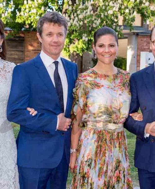 Los príncipes de Suecia y Dinamarca, cena oficial en Estocolmo