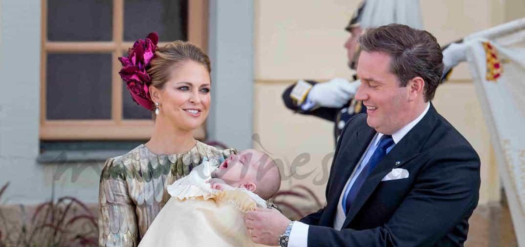 princesa magdalena de suecia y chris o neill con el principe nicolas