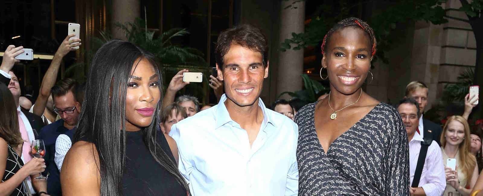 Rafa Nadal tenis virtual con las hermanas Williams