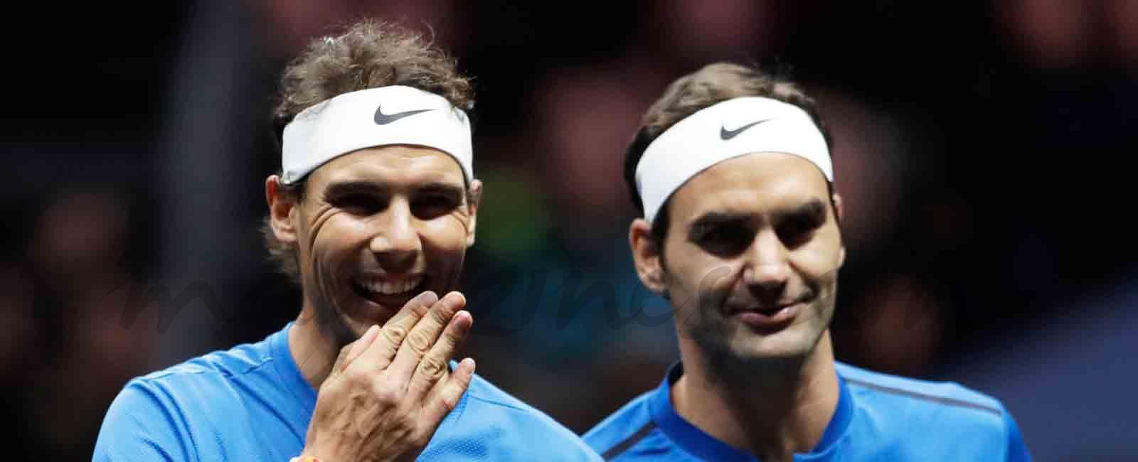Nadal y Federer pareja de dobles y victoria