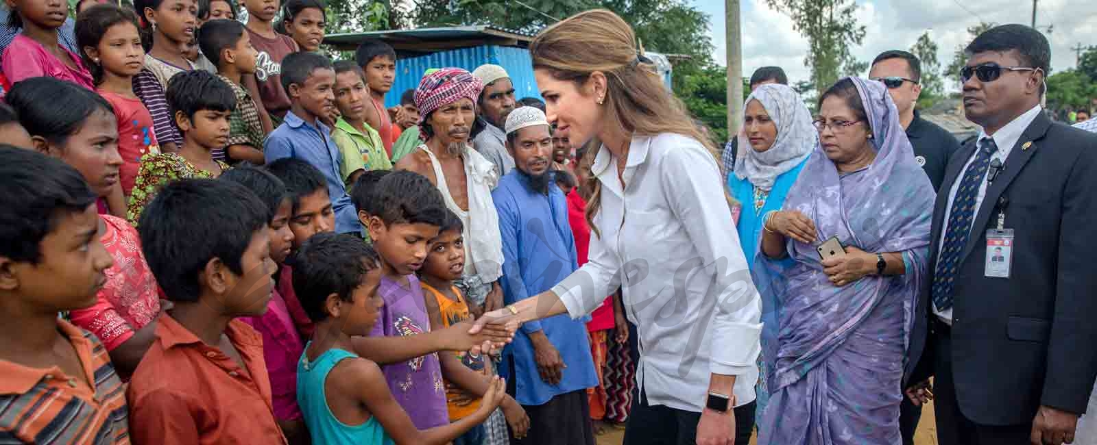 Rania de Jordania, una reina solidaria