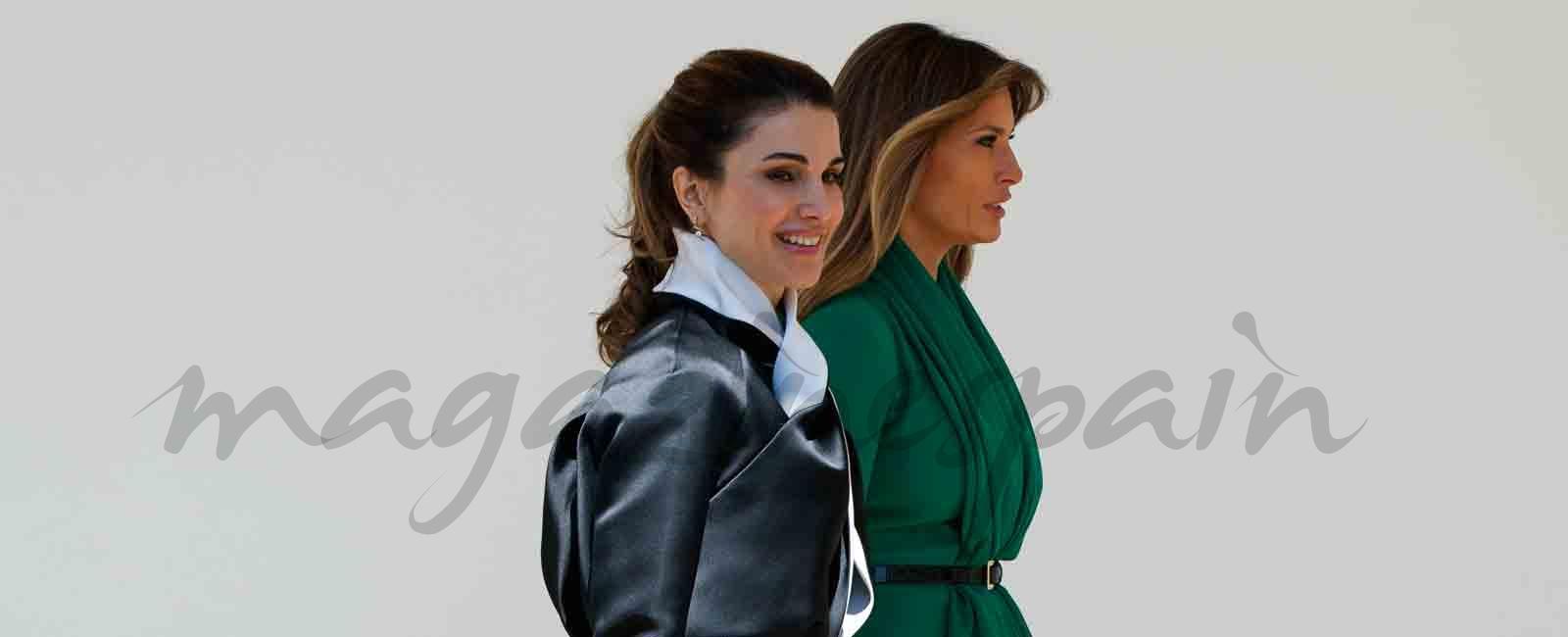Rania de Jordania y Melania Trump dos estilos diferentes