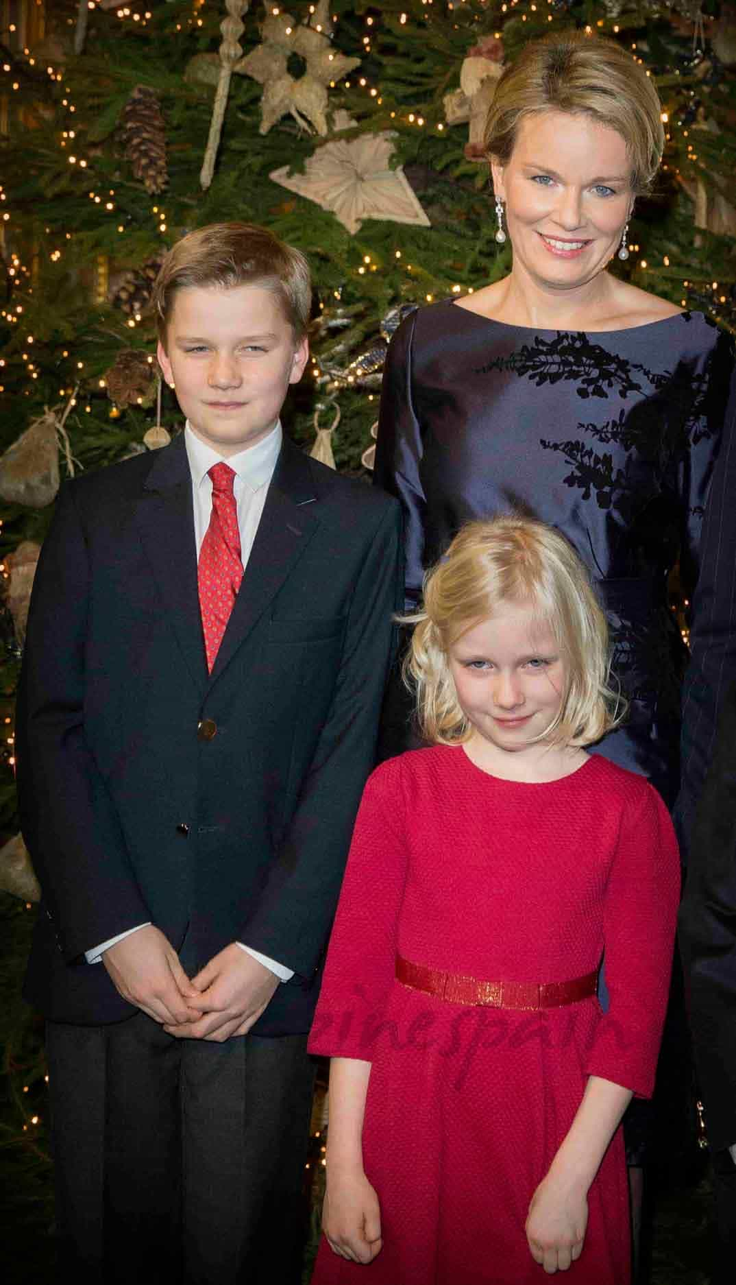 reyes de belgica en el concierto de navidad