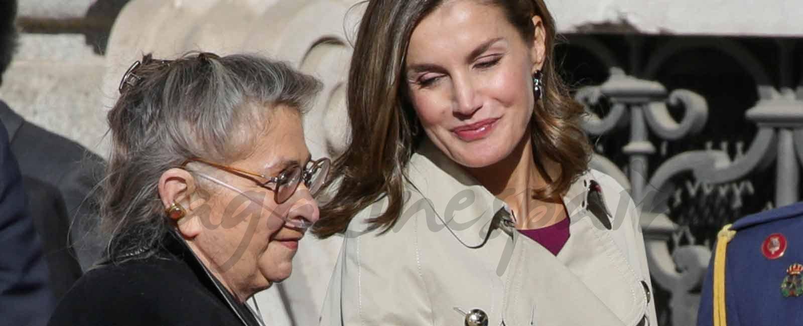 La reina Letizia, muy atenta con la Primera Dama de Israel, Nechama Rivlin