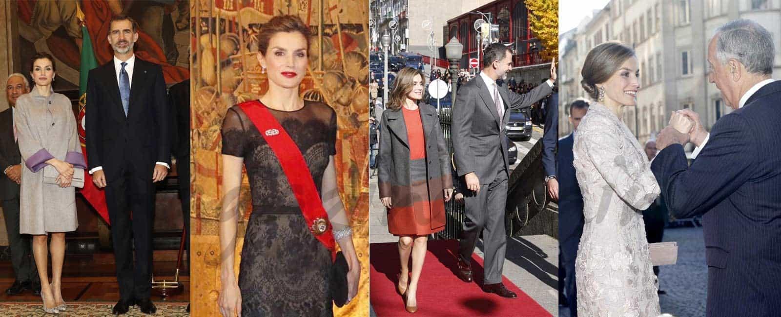 El estilo de la reina Letizia en Portugal