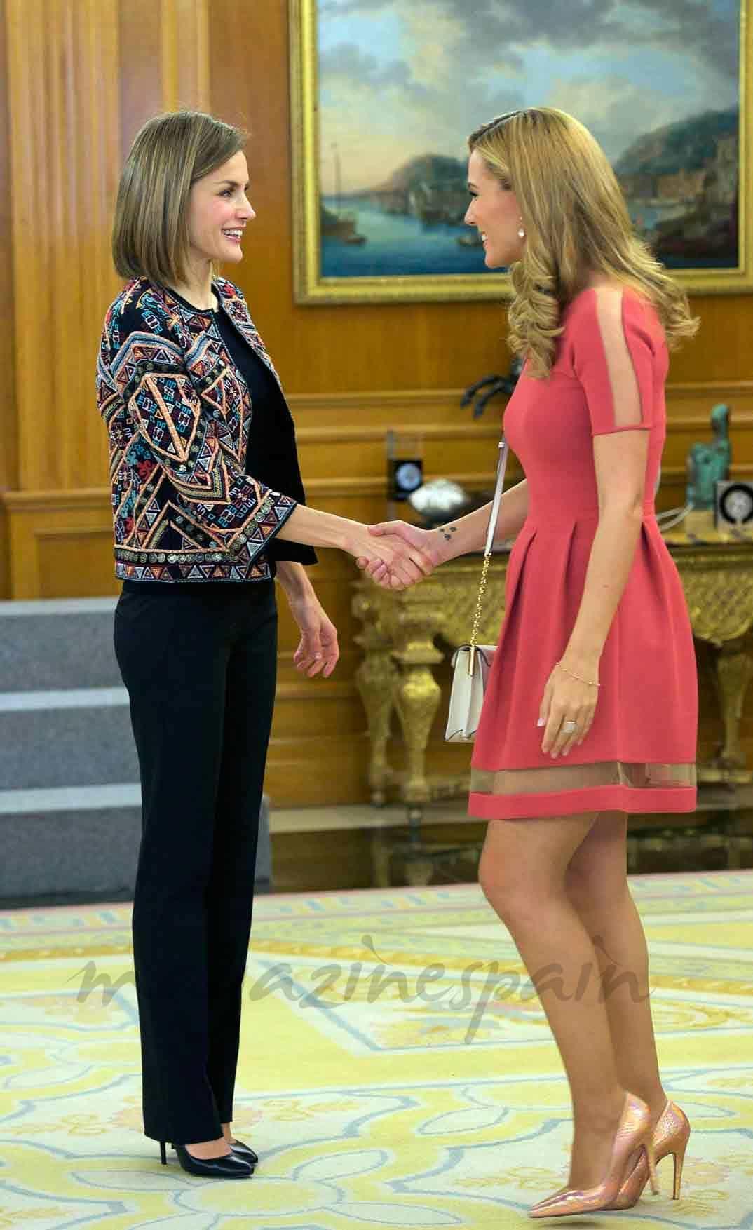 edurne conoce a la reina letizia