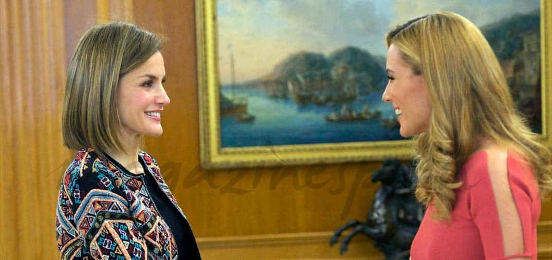 El encuentro de la reina Letizia con Edurne