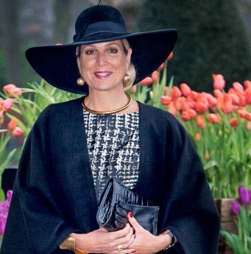 La reina Máxima de Holanda en blanco y negro