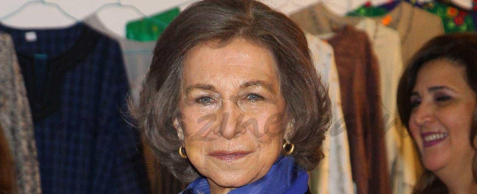 La reina Sofía en el rastrillo solidario