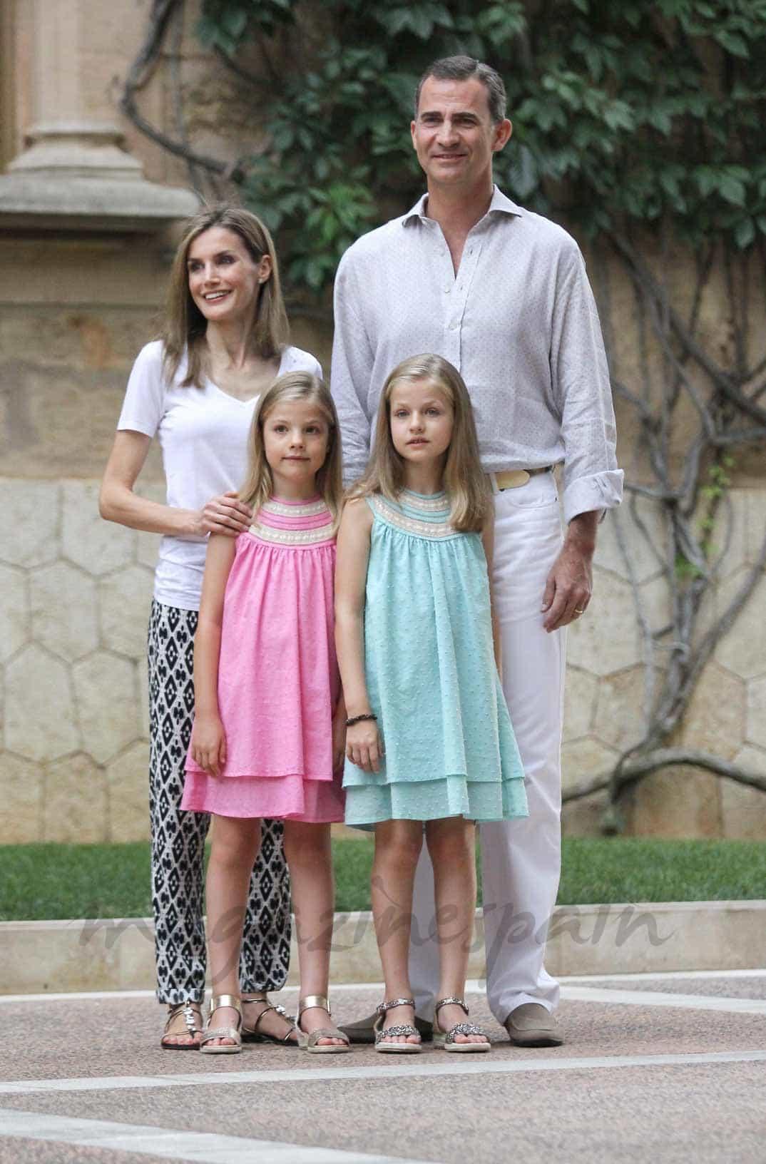 Familia Real posado Marivent, Palma de Mallorca (2014)