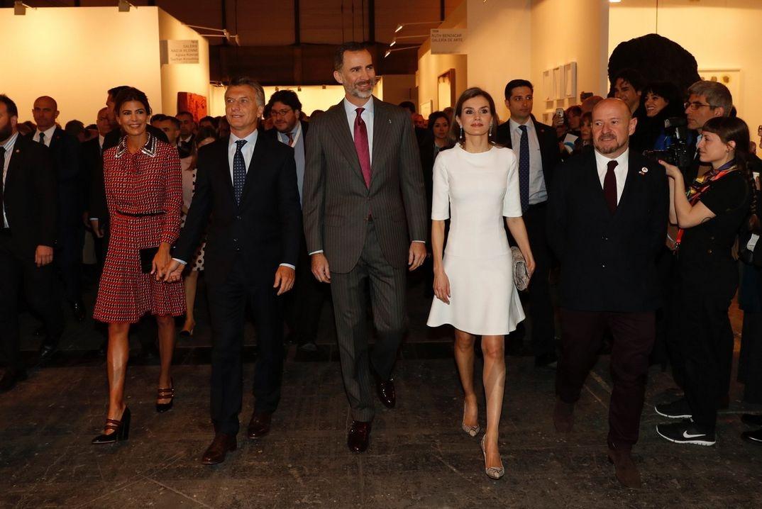 Reyes Felipe y Letizia con Mauricio Macri y su esposa Juliana Awada © Casa S.M. El Rey