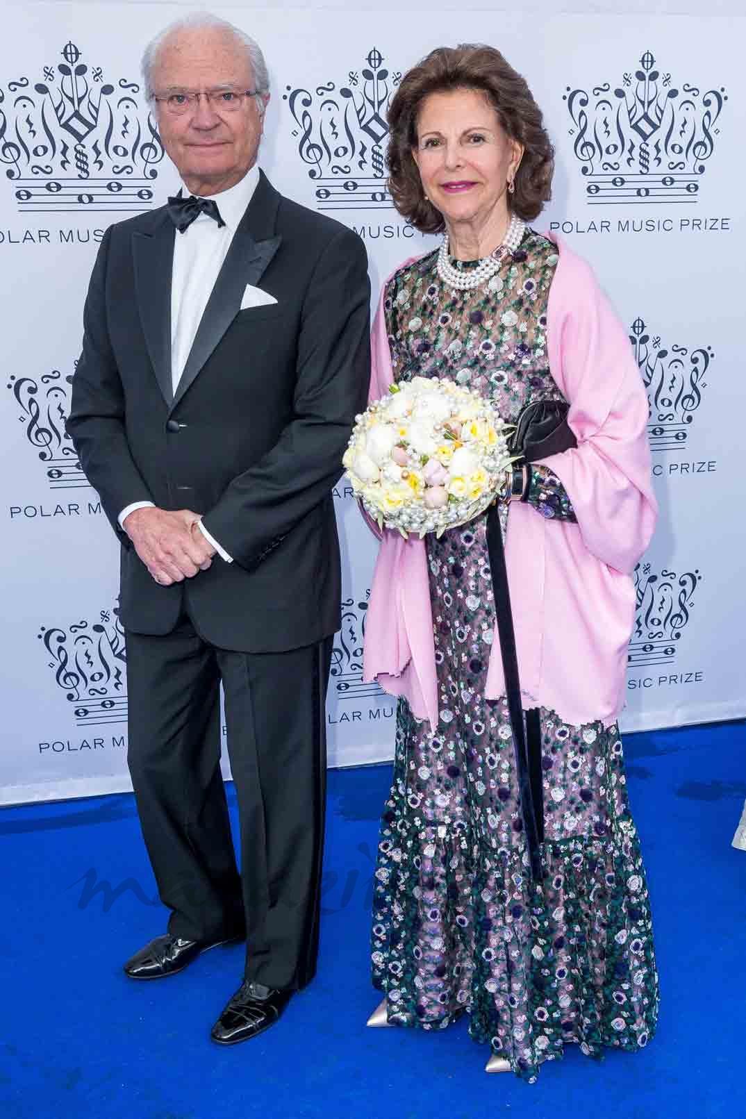 reyes de suecia en los premios polar music