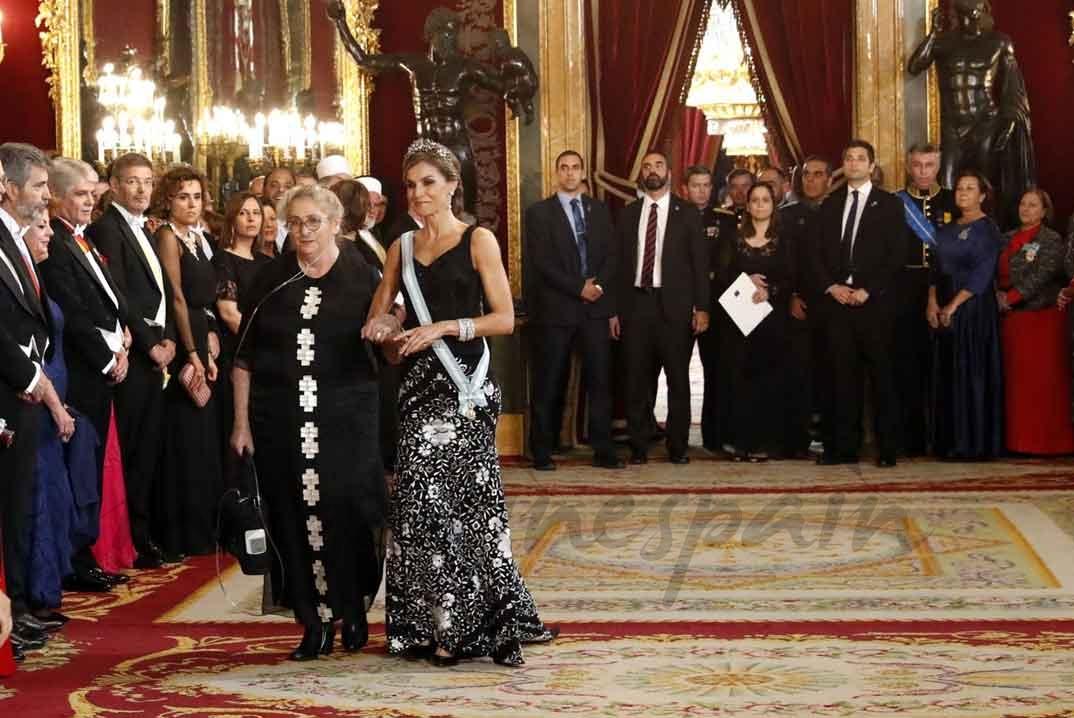 La reina Letizia junto a Nechama Rivlin © Casa S.M. El Rey