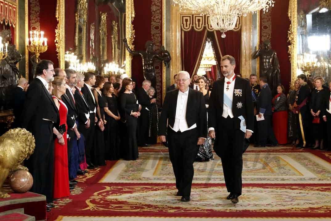 El rey don Felipe junto al Presidente Reuven Rivlin © Casa S.M. El Rey