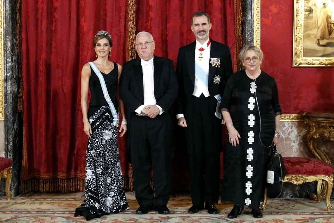 Los Reyes junto al Presidente Reuven Rivlin y su esposa Nechama Rivlin © Casa S.M. El Rey