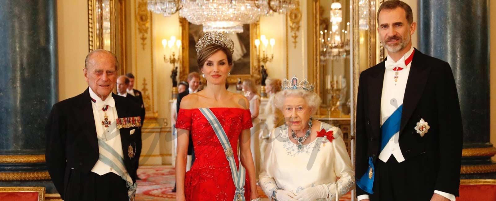 Cena de gala en Buckingham Palace en honor a los Reyes Felipe y Letizia