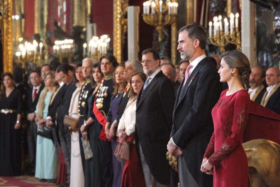 Sus Majestades los Reyes durante la recepción al Cuerpo Diplomático © Casa S.M. El Rey