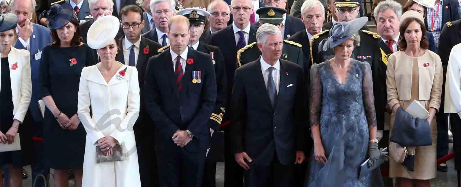 Los Duques de Cambridge y los Reyes de Bélgica en el centenario de la batalla de Passchendaele.