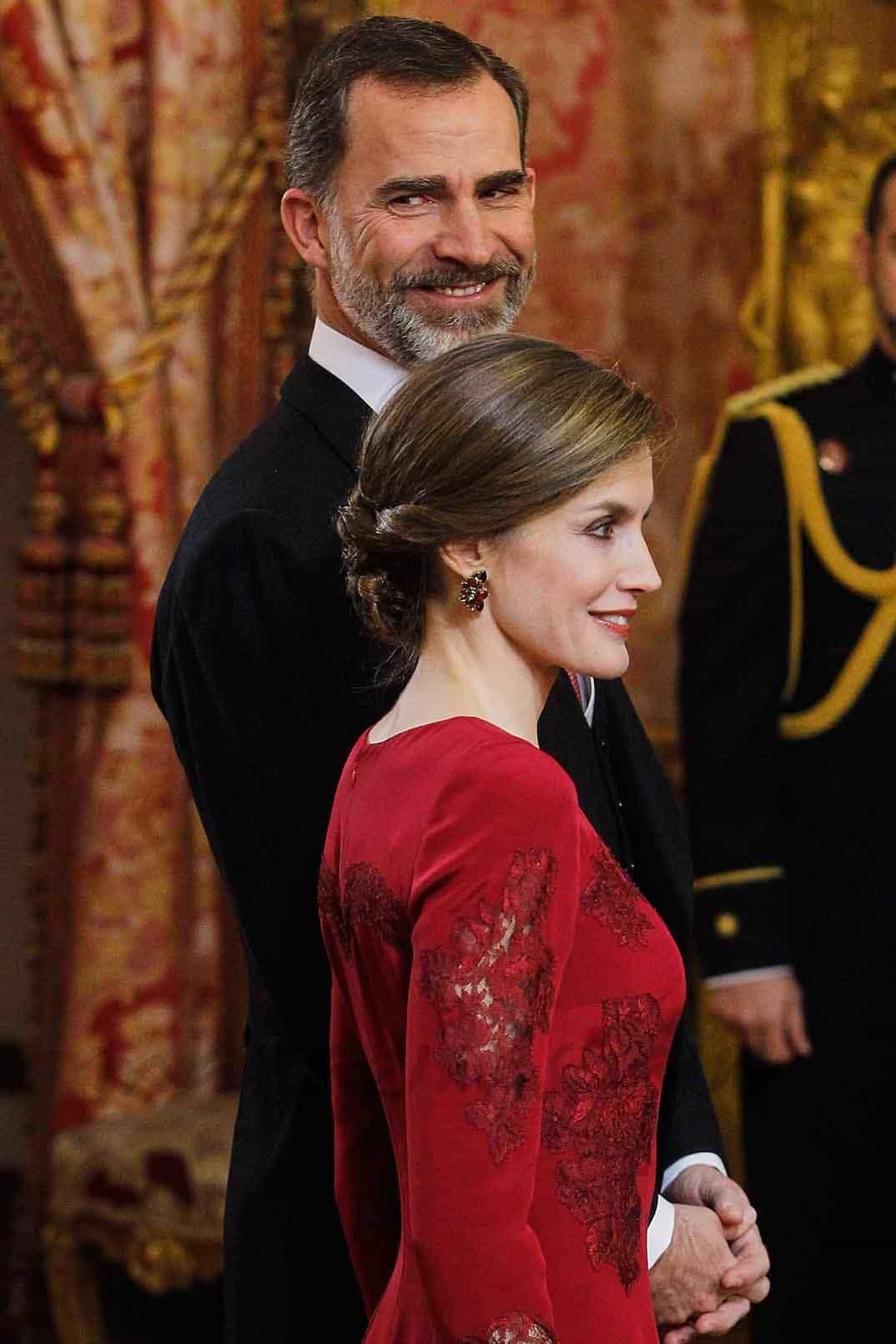 reyes de espana reciben al cuerpo diplomatico