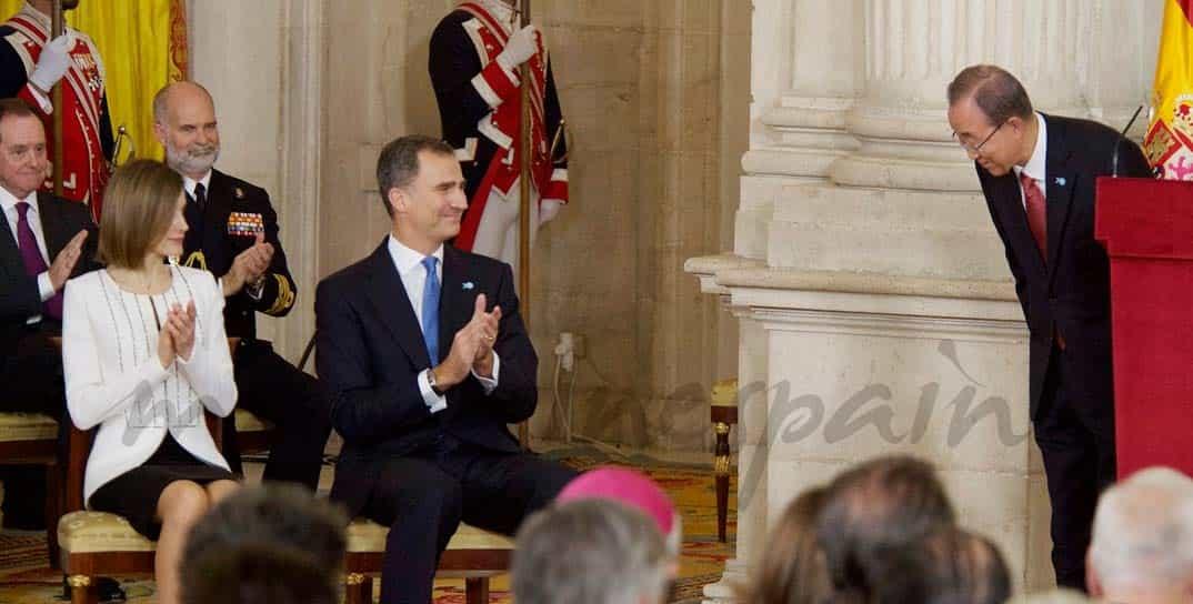Reyes de España con Ban Ki-moon