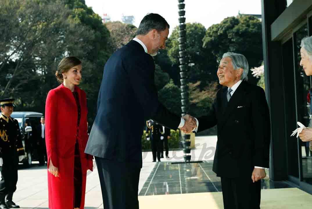 reyes de españa y emperador de japon