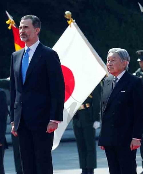 Los reyes Felipe y Letizia recibidos por el Emperador y la Emperatriz de Japón