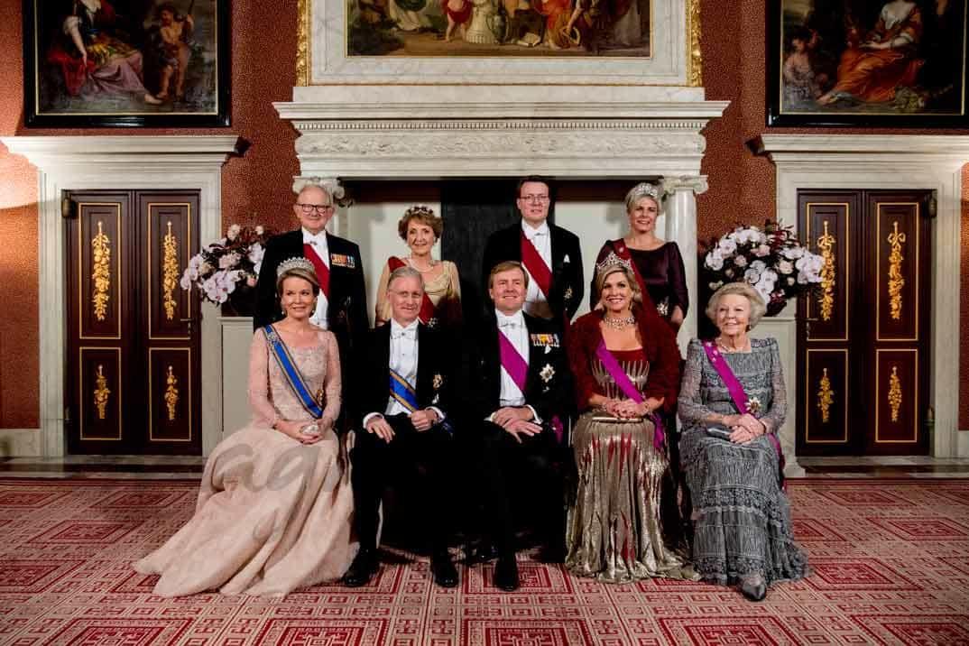 familia real holanda y belga en cena de gala