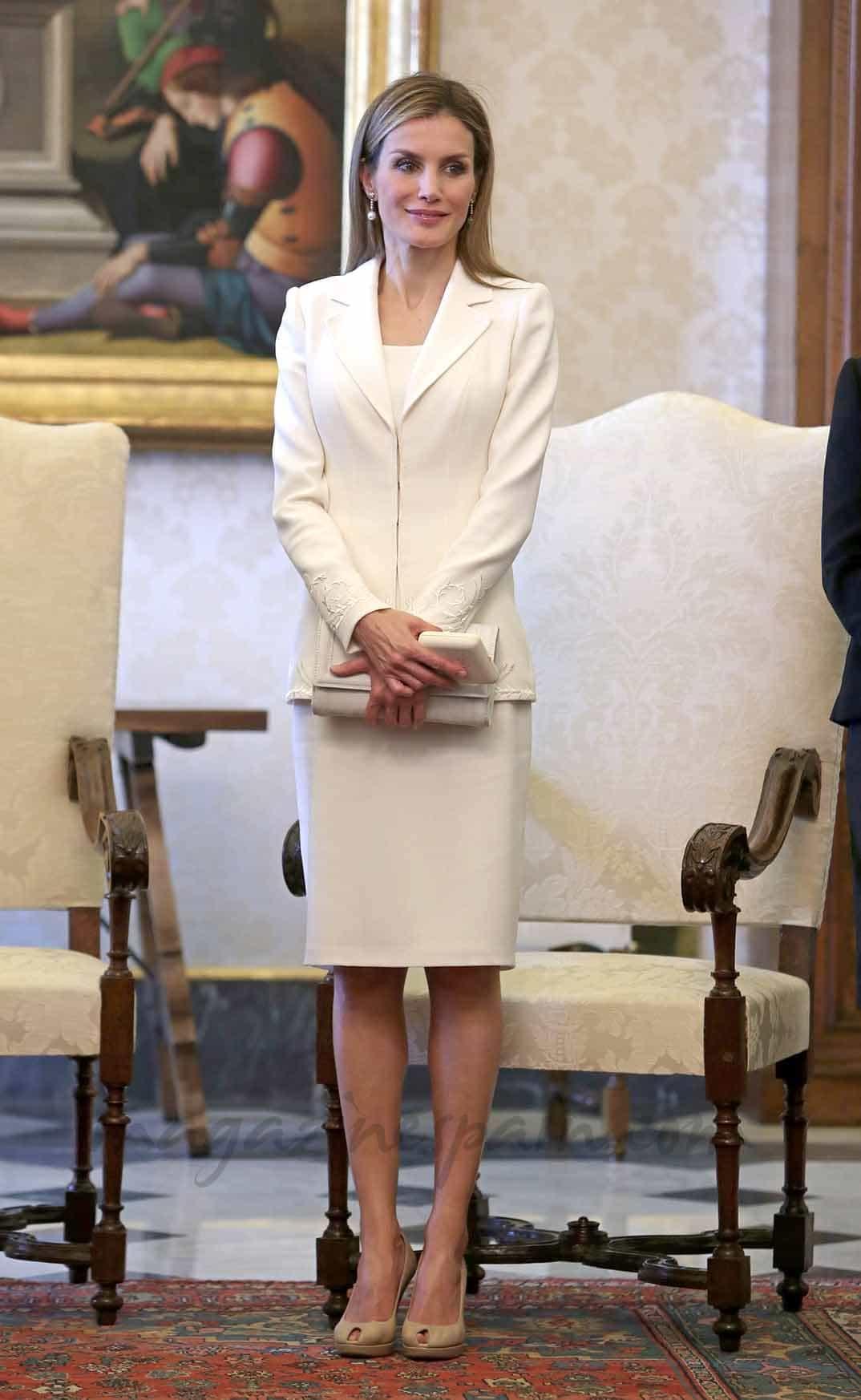 Reina Letizia en el Vaticano