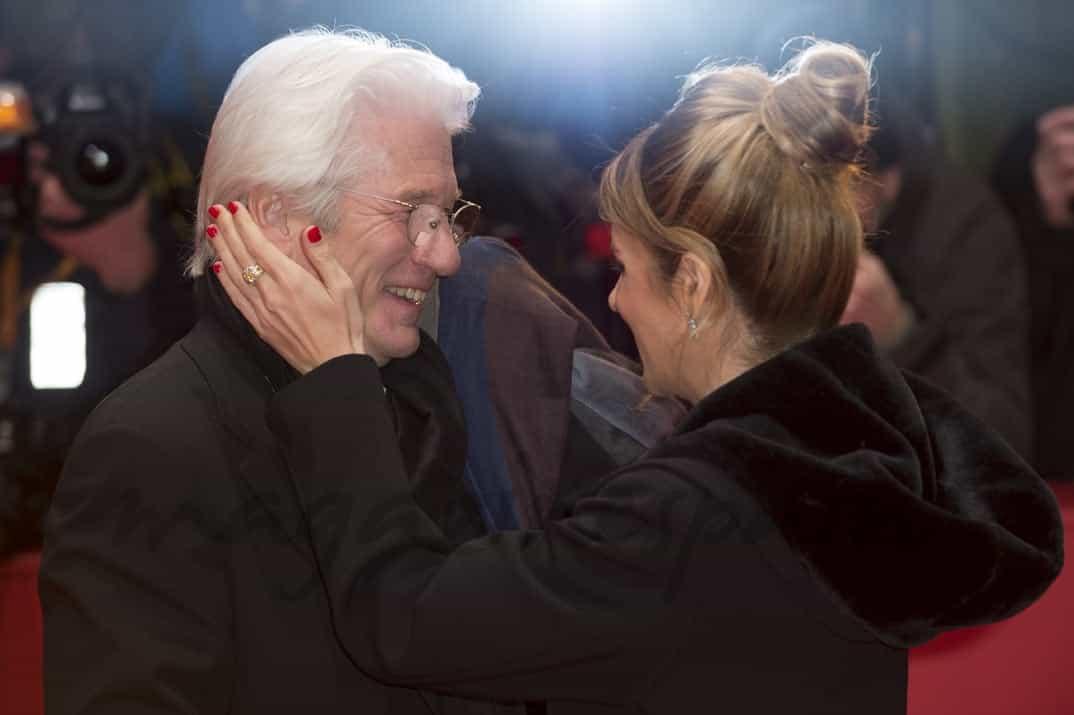 richard gere y alejandra silva juntos en la berlinale