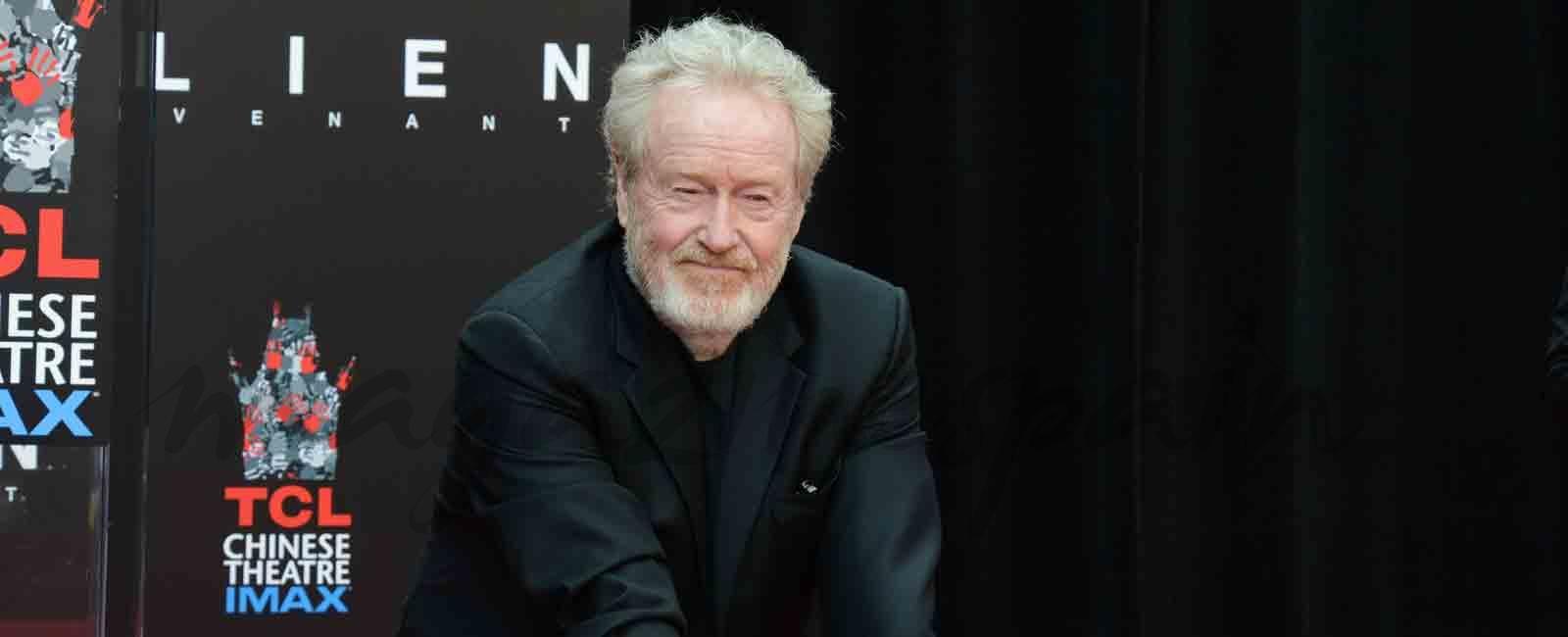 Ridley Scott ya tiene sus huellas en el Teatro Chino de Los Ángeles