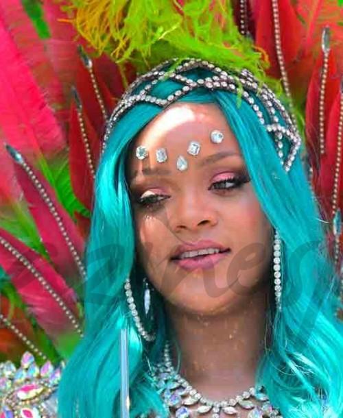 Rihanna y Lewis Hamilton en el Carnaval de Barbados