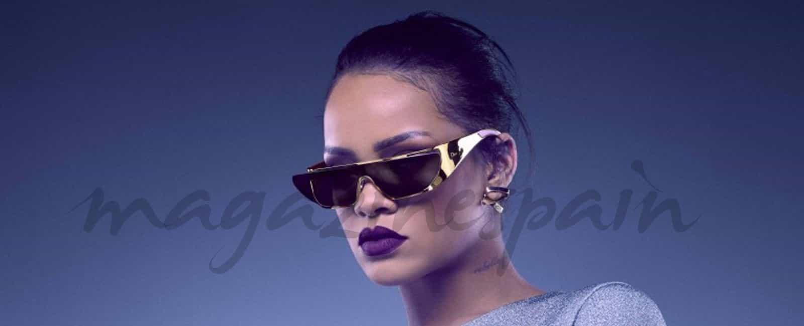 Rihanna, oro y plata en su nueva colección de gafas