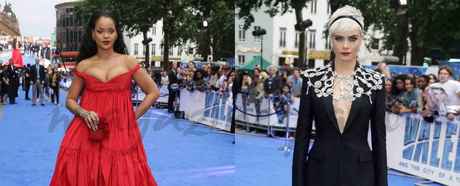 Rihanna y Cara Delevingne acaparan la atención en la alfombra roja de European Film
