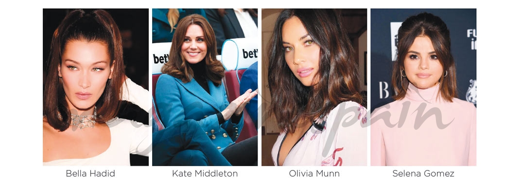 Bella Hadid, Kate Middleton, Olivia Munn y Selena Gomez