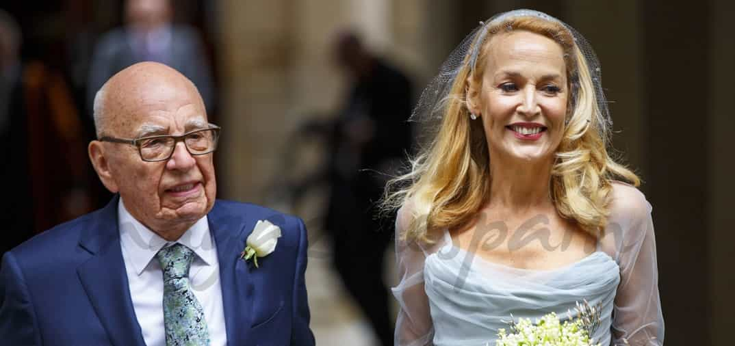 Rupert Murdoch (84) y Jerry Hall (59), matrimonio religioso