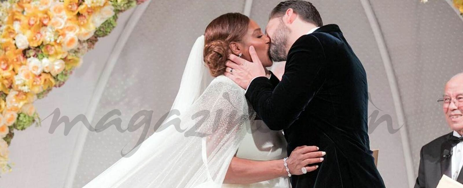 La romántica boda de Serena Williams
