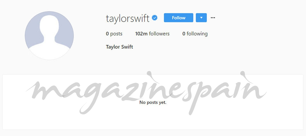 Taylor Swift borra Instagram
