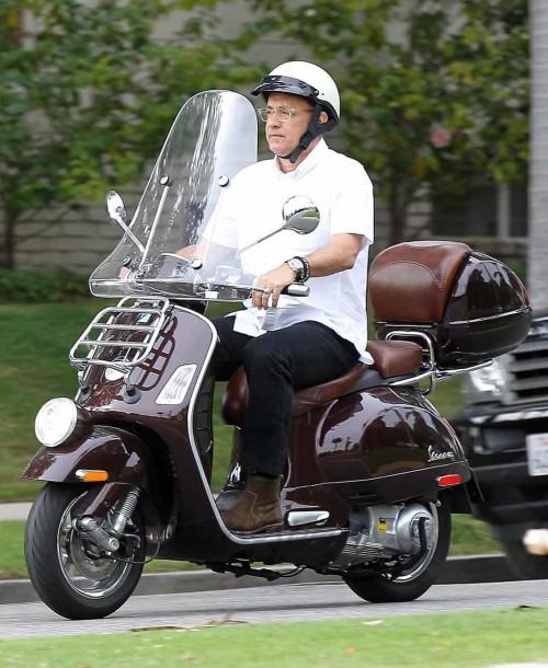 Tom Hanks y su familia, turistas en París