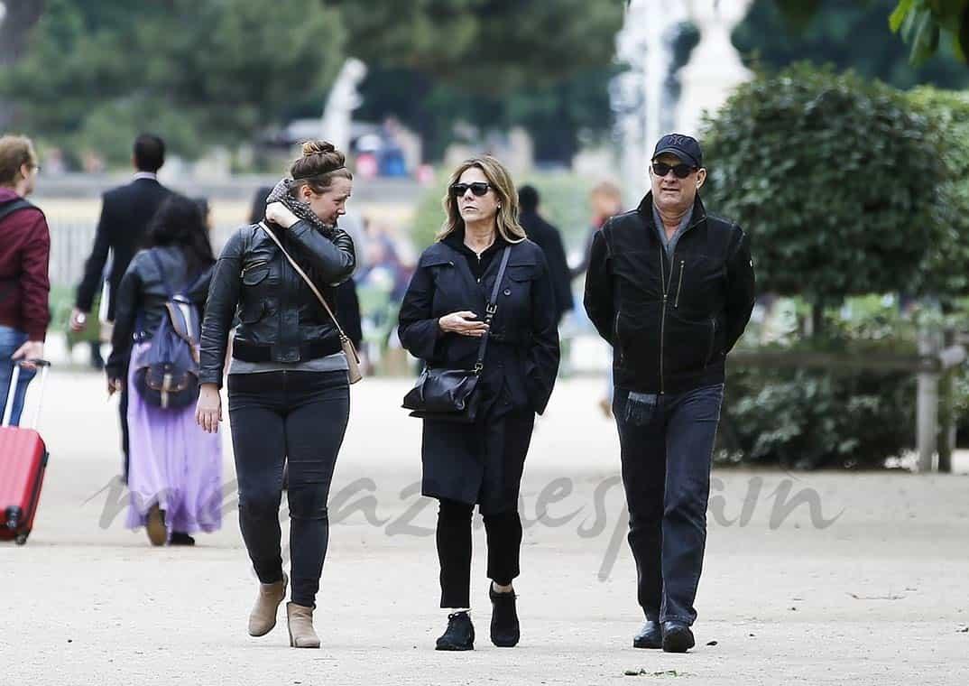tom hanks y su familia vacaciones en paris