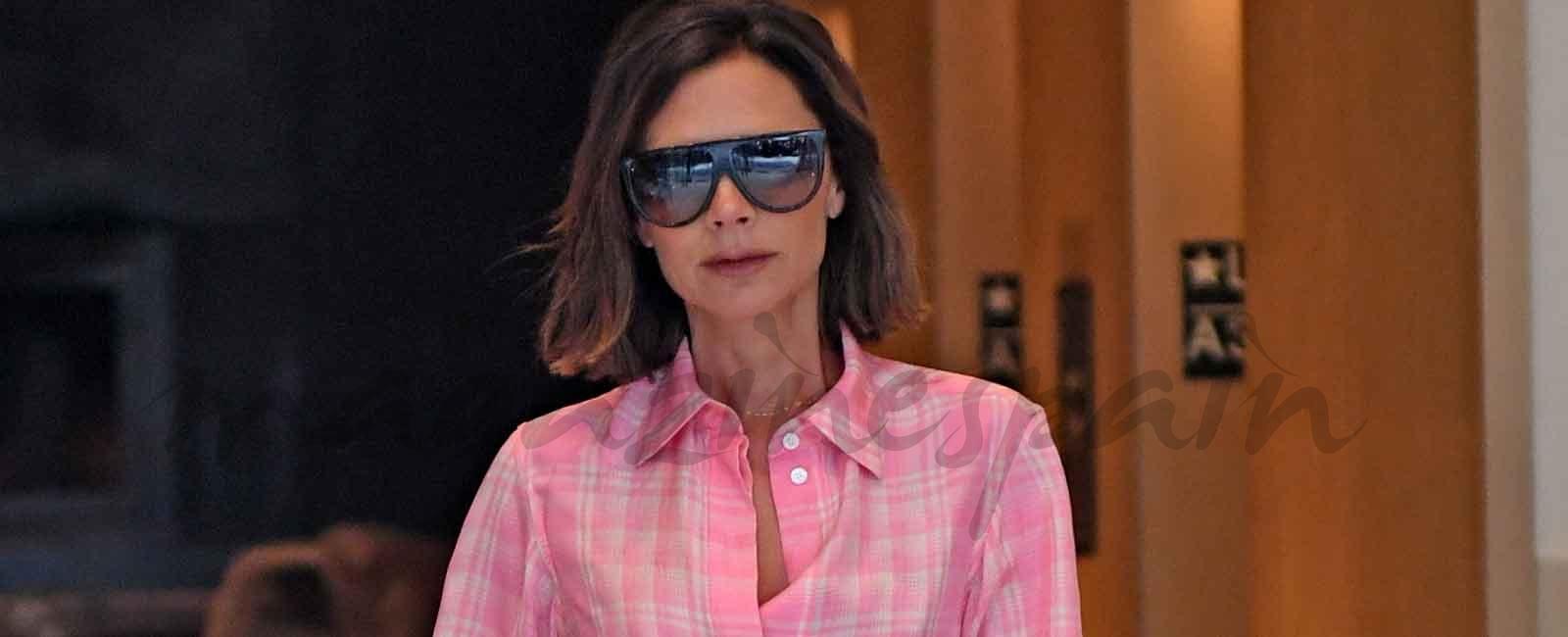 Victoria Beckham saca el pijama a la calle