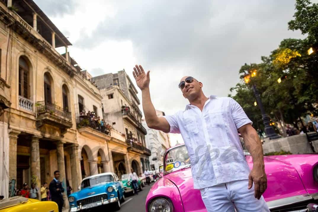 Vin Diesel desfile de Chanel en Cuba