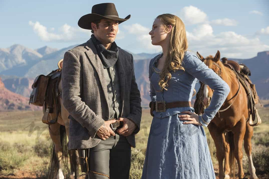 Westworld - James Marsden y Evan Rachel Wood © HBO