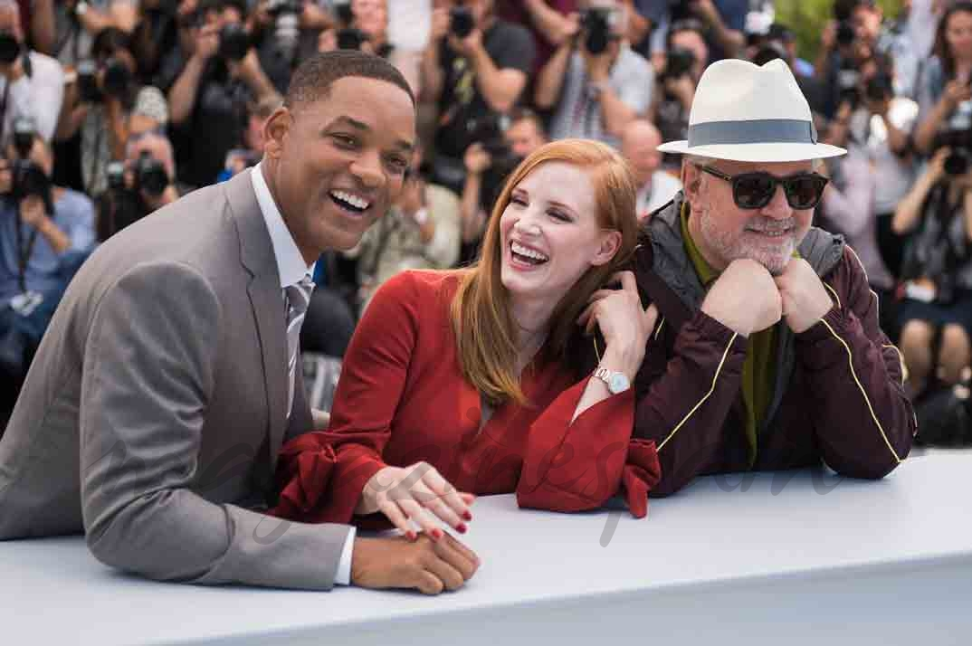 willy smith jessica chastain y pedro almodovar en cannes